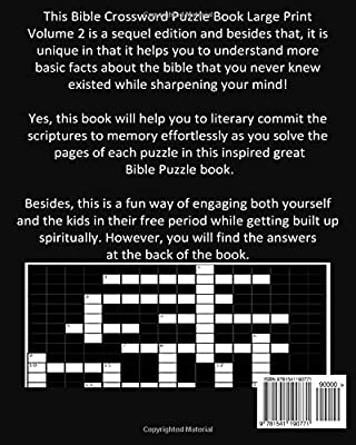 photo regarding Bible Crossword Puzzles Printable With Answers identified as Bible Crossword Puzzle Guide Substantial Print Quantity 2: Hefty
