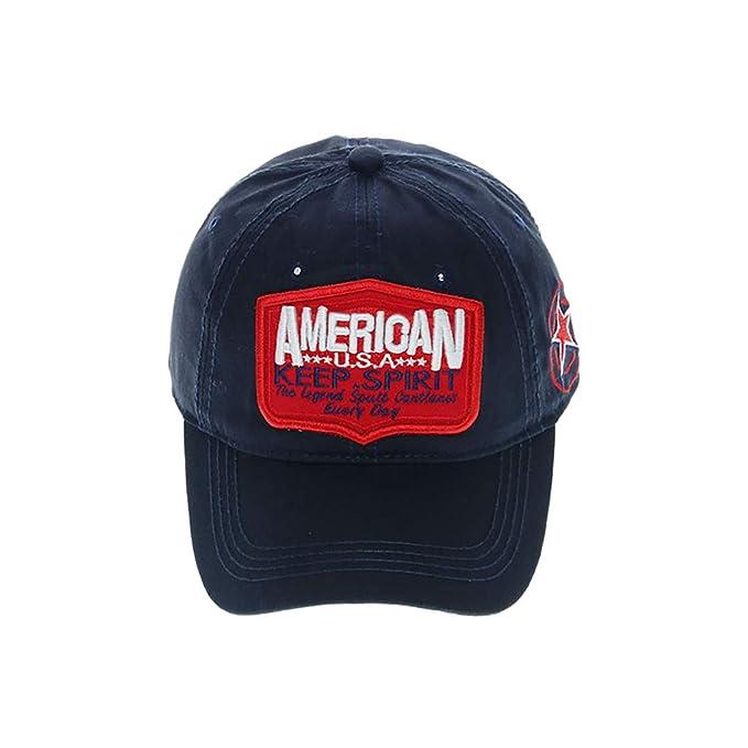 Gorra de Béisbol Bordada de Algodón al Aire Libre Ajustable Lavado ...