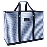 SCOUT 4 Boys Bag, Extra Large, Durable All Purpose Foldable Utility Tote, Folds Flat, Water Resistant, Zips Closed, Stripe Right