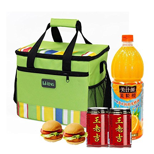 Grandey Folding Insulation Large Ice Pack Cold Breast Milk Storage Thermal Waterproof Lunch Take-Away Bag Ice Pack Coke Cooler Bag ()