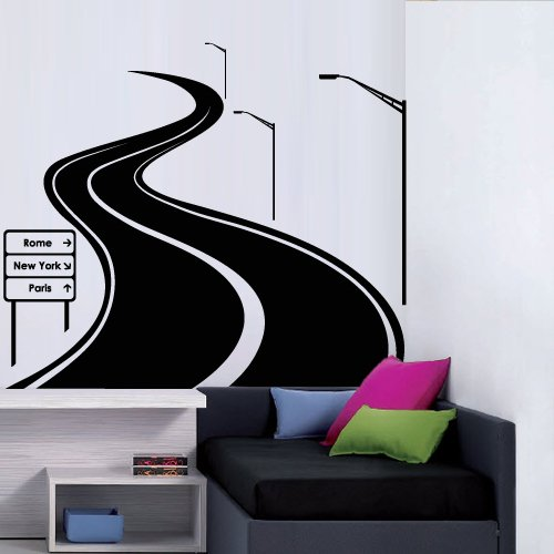 Large Wall Decal Vinyl Sticker Decals Art Decor Design Road Track Car Band Traffic Sign Nursery Kids Gift (M1425)