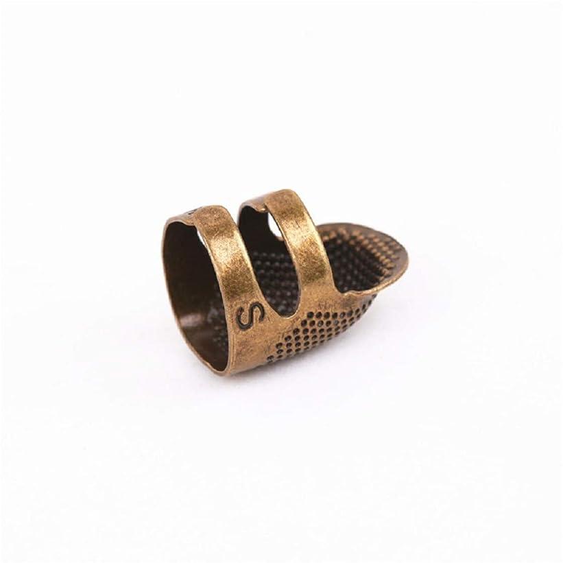 傾斜分数意味のあるuxcell 指ぬきリング 指保護 カバー ソーイング用 シンブル 指プロテクターメタル 縫いミシン 製品ゴールドトーン  合金 2個入り