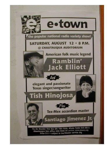 Ramblin Jack Elliott Tish Hinojosa Handbill poster