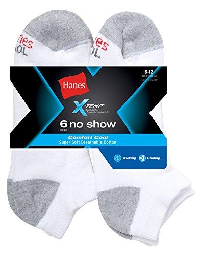 Hanes X-Temp Comfort Cool Men`s No Show Socks