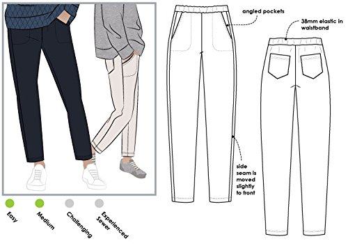 Style Arc Sewing Pattern - Brooklyn Knit Pant (Sizes 04-16) - Click for Other Sizes Available