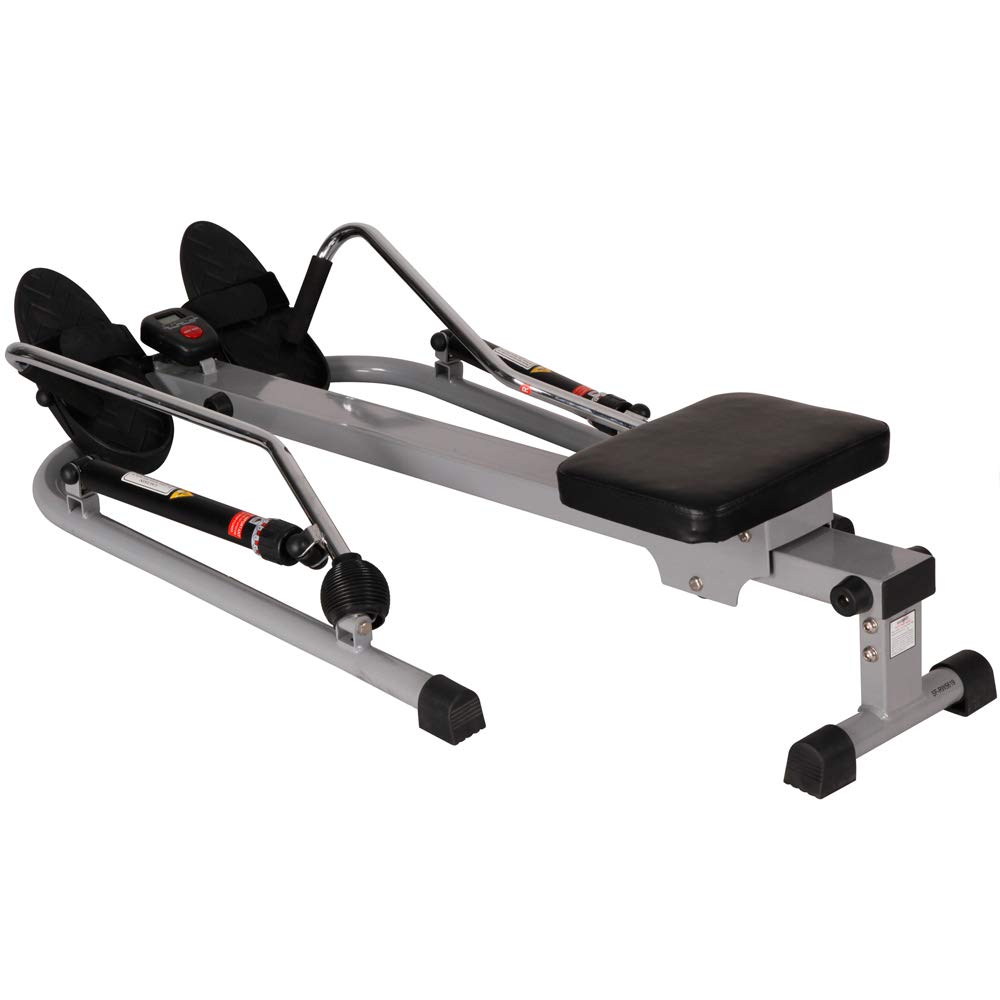 Sunny Health and Fitness 12 Level Resistance Rowing Machine Rower w/Independent Arms (SF-RW5619) with Workout Cooling Towel by Sunny (Image #3)