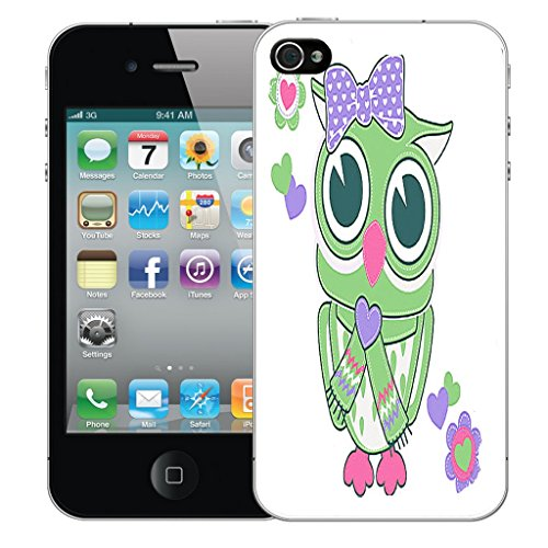 Mobile Case Mate iPhone 5 Silicone Coque couverture case cover Pare-chocs + STYLET - Cartooning Owl pattern (SILICON)