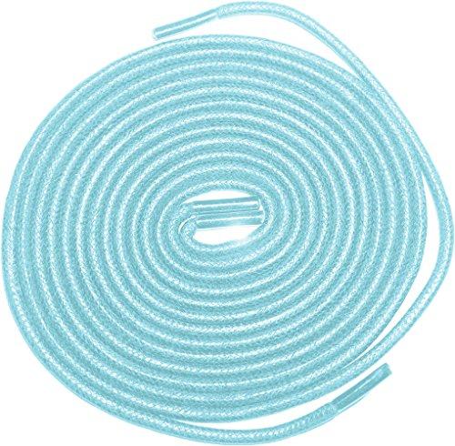 """Shoeslulu 20-59 """"Premium Runde gewachste Canvas Schnürsenkel Schnürsenkel Gletscherblau"""