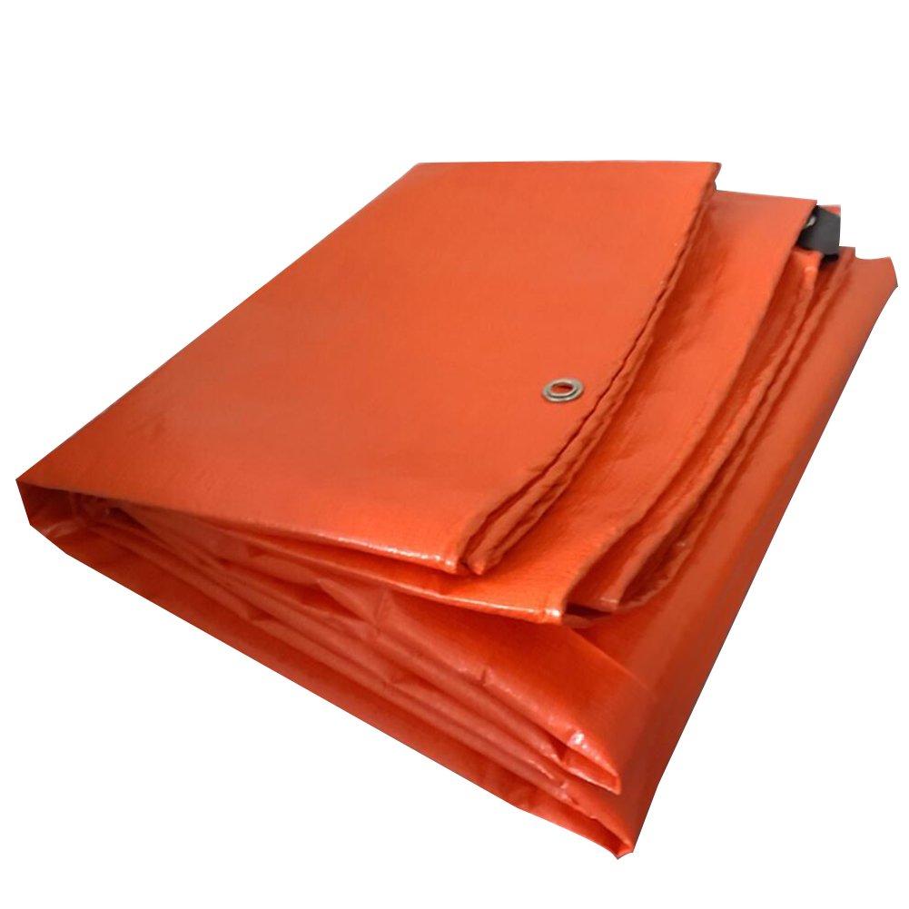 Orange 4 x 6m LXFBX BÂche imperméable rembourrée BÂche Orange, Tapis de Camping Poncho imperméable à l'eau, crème Solaire Anti-poussière, Anti-Corrosion, Anti-oxydation, BÂche d'isolation Thermiq