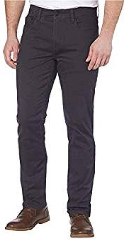 English Laundry Men's Comfort Chino Straight Leg Pants (Forged Iron, 38X 34)