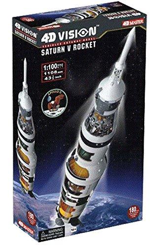 Famemaster 4D-Vision Saturn V Rocket Model 1:100 Scale 26117 (Rocket Saturn Moon V)