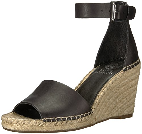 Vince Camuto Women's Leera Espadrille Wedge Sandal, Black, 5 Medium US