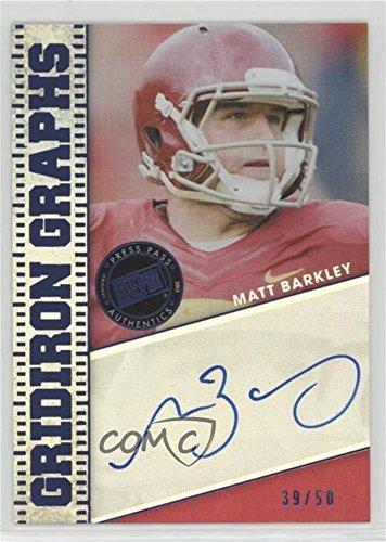 Matt Barkley #/50 (Football Card) 2013 Press Pass Fanfare - Gridiron Graphs - Blue #GG-MB