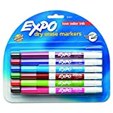 EXPO 86603 Low Odor Dry Erase Marker, Fine Point, Assorted, Pack of 12