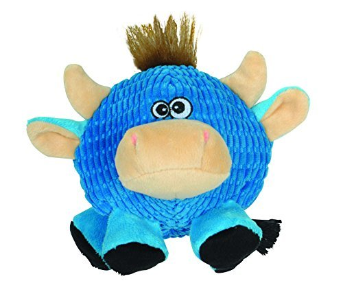 SmartPetLove Tender-Tuffs - Ball (Round Blue Cow) (Round Dog Toys)