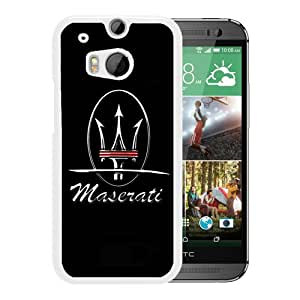 For HTC ONE M8,Maserati logo 5 White Protective Case For HTC ONE M8