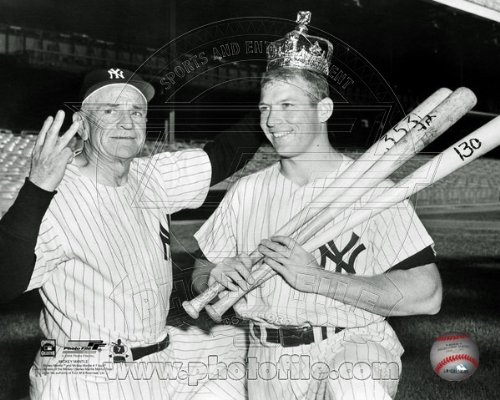 - Mickey Mantle Casey Stengel New York Yankees 8x10 Photo 1956 Triple Crown RARE PHOTOGRAPH!
