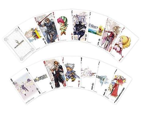 Final Fantasy 25th anniversary Trump juego de cartas/naipes ...