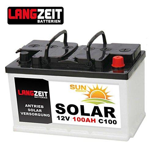 Solarbatterie 100Ah C100 12V Wohnmobil Boot Wohnwagen Camping Schiff Batterie Solar LANGZEIT Langzeit LZ100