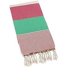 Swan Comfort Turkish Towel Peshtemal Bathrobe for Hamam Spa Pool Massage Sauna Beach Yacht Gym Fitness Kitchen Yoga Baby Towel Picnic Blanket 100% Cotton Table Throw Sarong Kikoy Fouta