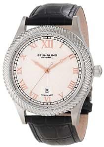 Stuhrling Original Men's 91C.33152 Symphony Aristocrat Augustus Automatic Mechanical Date Black leather Strap Watch