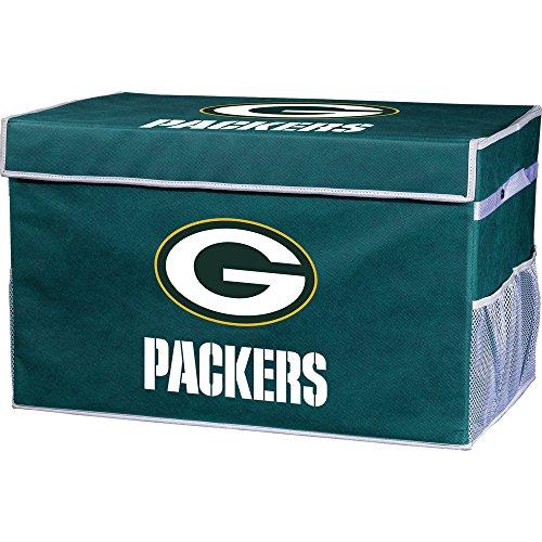 Franklin Sports Green Bay Packers Collapsible Foot Locker Storage Bins - Team Logo Home Organizer - 26