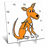 3dRose All Smiles Art Animals - Fun Cool Dingo cartoon - 6x6 Desk Clock (dc_273474_1)