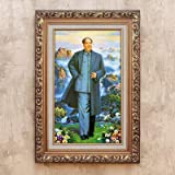 DIY 5D Diamond Painting by Number Kit, Chairman Mao Crystal Rhinestone Crystal Embroidery Cross Stitch Arts Craft Canvas Wall Decor 36.6X23.6IN(Full Drill)