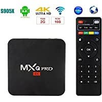 SIKAI MXQ Pro [Android 6.0] TV Box [Amlogic S905X] [Quan Core] 64-bit 3D 4K HD [2.0GHZ WiFi] [KODI 16.1] [2G RAM+ 16G ROM] [Cortex A53] [HDMI 1080P] [With Remote Control] [US Version]