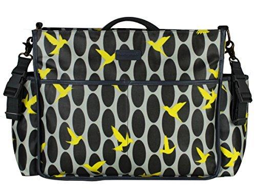 momymoo Lulu - Grey Humming Bird baby changing bag by Momymoo   B01MZY1RPH