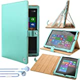VG Blue Arthur Detachable Stand Carrying for Microsoft Surface Pro 3 + Vangoddy Earphones