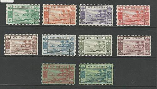 New Hebrides, Postage Stamp, 50-59 Mint NH, 1938 British, JFZ