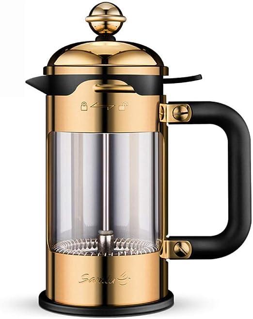 Hokaime 350 ml / 600 ml / 1000 ml / 1500 ml Olla a presión cafetera de Acero Inoxidable cafetera para el hogar cafetera Tetera Filtro de café Manual, 1000 ml: Amazon.es: Hogar