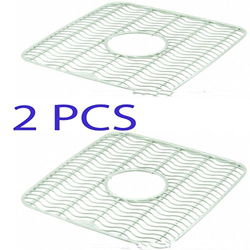 "2 PCS Sink Protector Mat, 12"" X 11"", ivory Kitchen Accessories NEW from Generic"