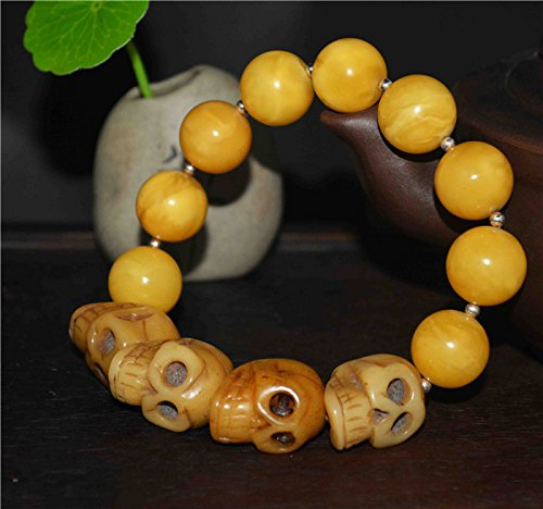 Antique Amber Beads - 4