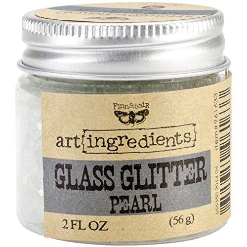 Prima Marketing Art Ingredients Glass Glitter, 2-Ounce, Pearl