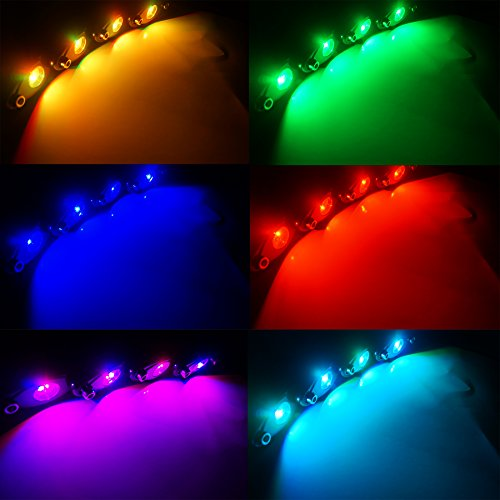 ditrio 4x pods led offroad rock lights kit rgb multicolor neon rock