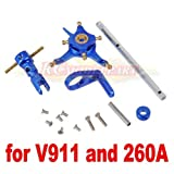 Hobbypower CNC Alloy Metal Upgrade Set for Wl V911 Nine Eagles 260a Micro Helicopter Blue
