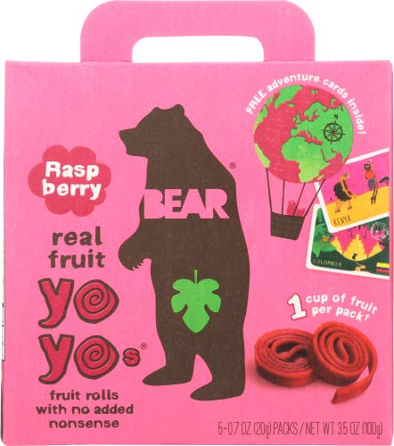 Bear Yoyo Fruit Roll Rasp Mltpk 3.5 OZ (Pack of 12)
