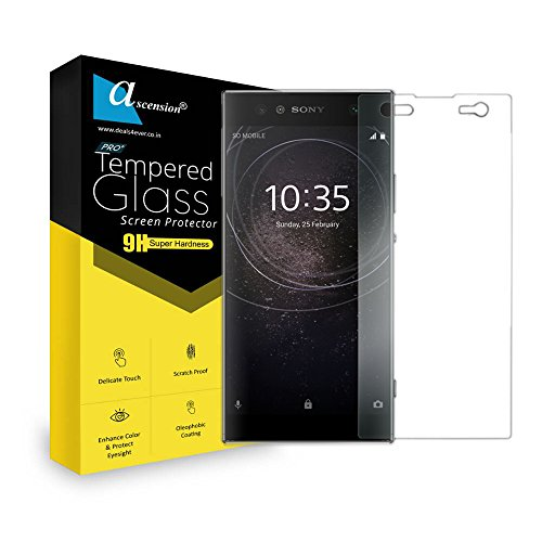 ascension 9h Hard 2.5D Ultra Curve Tempered Gorilla Screen Glass Protector for Sony Xperia XA2  Transparent