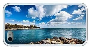 custom iphone 6 4.7 cases beach ocean pier TPU White for Apple iphone 6 4.7