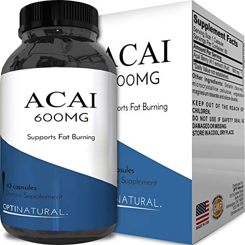 Acai Supplements - Acai Berry Detox Weight Loss Supplements Antioxidant Superfood Increase Energy Heart Health Burn Belly Fat Immune System Booster Skin Care Anti-Aging Improve Clarity Libido