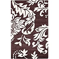 Safavieh Soho Collection SOH831A Handmade Brown and Ivory Premium Wool Area Rug (5 x 8)