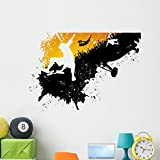 Wallmonkeys Skateboard Abstract City Wall Decal Peel and Stick Graphic (48 in W x 34 in H) WM101184