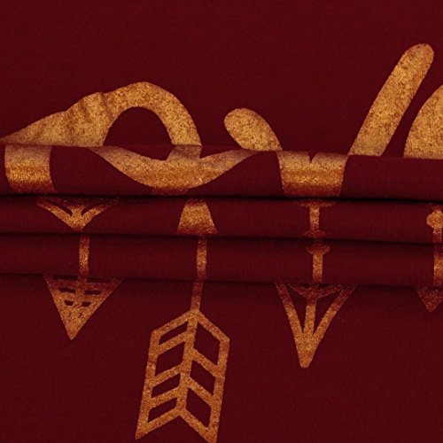 T-shirt Donna,LandFox Donne Buon Natale Stampare Manica Lunga Splicing Superiore Maglietta