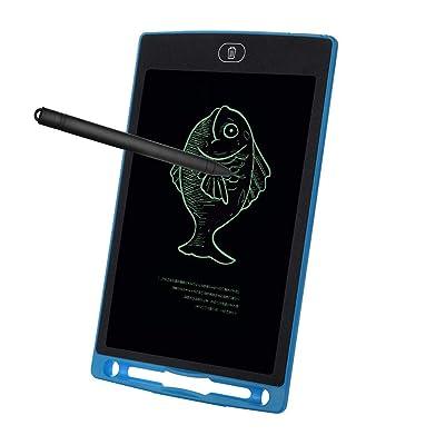 🌺 🌺8.5 Inch Tableta de Escritura LCD 12 Inch, LCD Tablero de Dibujo Gráfica, Pizarra Magica para niños, Juguetes Educativo, Mensaje Doodle Pad Electrónico, para Niños, Clase, Oficina 🌺 🌺 (Azul)