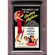 Audrey Hepburn Humphrey Bogart Sabrina Guitar Pick or Pill Box USA Made