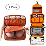 Cosmetic Pouch Toiletry Bags Travel Business Handbag Waterproof Compact Hanging Personal Care Hygiene Purse & Organizer Bra Underwear Portable Storage Bag Travel Lingerie Pouch