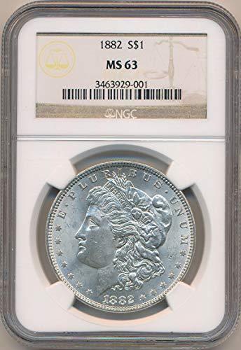 1882 P Morgan Dollar Morgan Dollar MS63 NGC