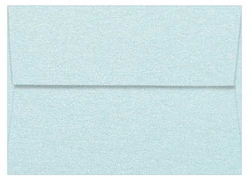 (A1 Juniper Berry Metallic Straight Flap Envelopes, Aspire Petallics 80lb, 25 pack)